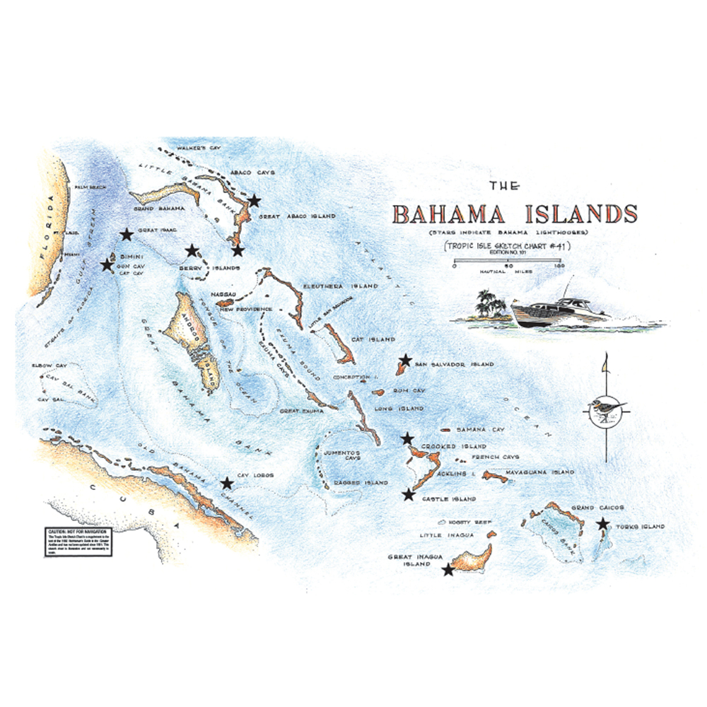 The Bahamas Islands Chart 41